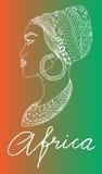 Afrikanische Frau lizenzfreie abbildung
