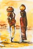Afrikanische Frauen. lizenzfreie abbildung