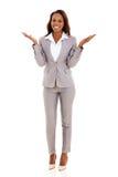 Afrikanische Geschäftsfrau überrascht Lizenzfreies Stockbild