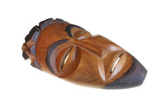 Afrikanische hölzerne Maske, Stockfoto