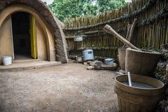 Afrikanische Hütte Stockbild
