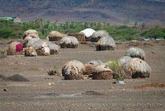 Afrikanische Hütten Lizenzfreies Stockfoto