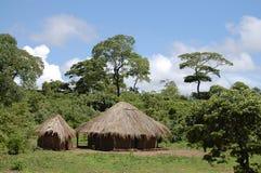 Afrikanische Hütten - Sambia Lizenzfreies Stockbild