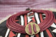 Afrikanische Halskette von Nigeria stockfoto