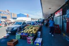 Afrikanische Handelsstraßen-Speicher stockfotos