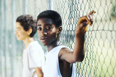 Afrikanische Jungen Lizenzfreies Stockbild