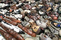 Afrikanische KunstFlohmarkt Lizenzfreie Stockfotos
