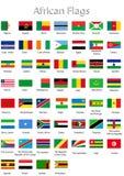 Afrikanische Länder Lizenzfreie Stockfotos