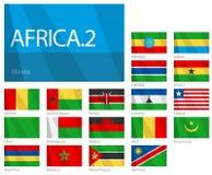 Afrikanische Länder - Weltmarkierungsfahnen-Serie des Teil-2. Lizenzfreies Stockfoto