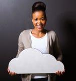 Afrikanische Mädchenwolke lizenzfreies stockfoto