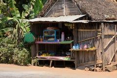 Afrikanische madagassische Hütten in Andasibe-Region Lizenzfreie Stockfotografie