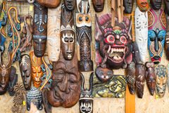 Afrikanische Masken Stockfoto