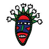 Stammes- Maske des Kartons Lizenzfreie Stockbilder