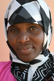 Afrikanische moslemische Frau Stockfotografie
