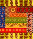 Afrikanische Muster und Verzierungen Stockfotografie