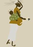Afrikanische Mutter Stockbild