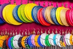 Afrikanische Ohrringe stockfoto