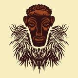 Afrikanische Schablone. Lizenzfreies Stockfoto