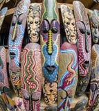 Afrikanische Schablonen Lizenzfreie Stockbilder