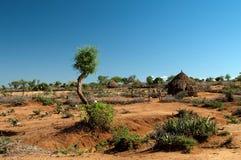 Afrikanische Stammes- Hütte Stockbild