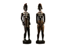 Afrikanische Statuetten Stockbild