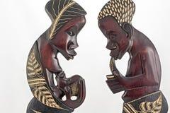 Afrikanische Statuetten Lizenzfreie Stockfotos