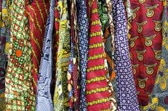 Afrikanische Stoff-Muster Stockfotos