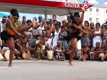 Afrikanische Tänzer bei Ironman 2008 Lizenzfreie Stockfotos