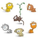 Afrikanische Tiere getrennt Stock Abbildung