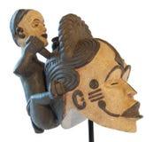 Afrikanische traditionelle Skulptur des Mutterschaftssymbols Stockfotos