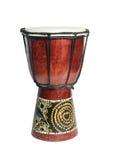 Afrikanische Trommel lokalisiert auf einem weißen Hintergrund Lizenzfreie Stockfotos