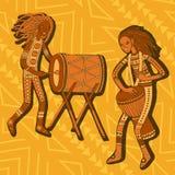Afrikanische Vertreter Stoßspieler Stammes- Musik stock abbildung