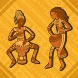 Afrikanische Vertreter Stoßspieler Stammes- Musik vektor abbildung