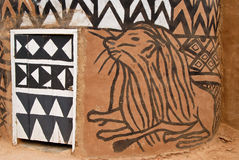 Afrikanische Ziegelsteinhütte Lizenzfreie Stockbilder