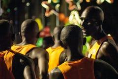 Afrikanischer abhängiger Standard Chartered-Marathon Stockbild