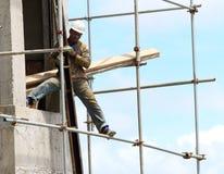 Afrikanischer Bauarbeiter Stockbild
