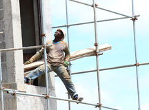 Afrikanischer Bauarbeiter Lizenzfreies Stockbild