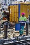 Afrikanischer Bauarbeiter Cape Town lizenzfreies stockfoto