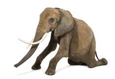Afrikanischer Elefant, der, Ausführung, lokalisiert knit lizenzfreies stockbild