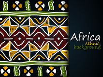 Afrikanischer ethnischer Vektor-Hintergrund Stammes- Muster Stockbild
