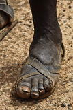 Afrikanischer Fuß stockfotos