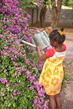 Afrikanischer Gärtner stockfoto
