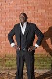 Afrikanischer Geschäftsmann lizenzfreies stockfoto