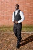 Afrikanischer Geschäftsmann stockbild