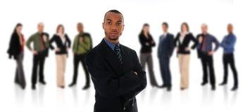 Afrikanischer Geschäftsmann und Team Stockfoto