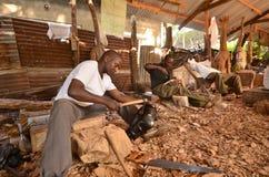 Afrikanischer Handwerker Stockfotos