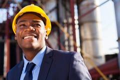 Afrikanischer industrieller Manager Lizenzfreies Stockfoto