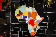 Afrikanischer Kontinent auf Fliesen lizenzfreie stockfotos