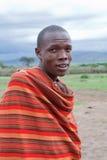 Afrikanischer Mann, Masai Mara, Kenia Lizenzfreies Stockfoto