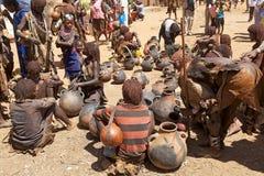 Afrikanischer Markt Stockfoto